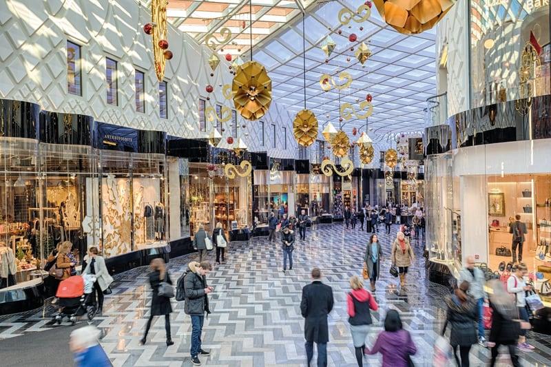Granite paving in Victoria Gate shopping centre