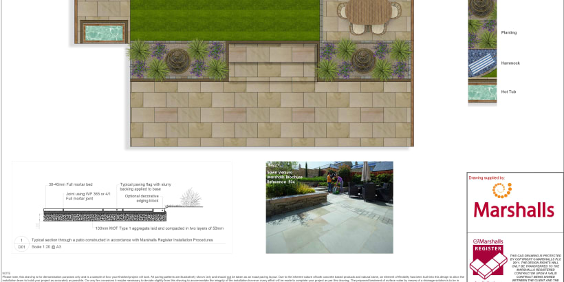 CGI imagery of a patio.