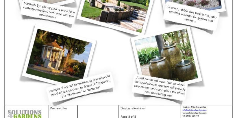 Design of a patio on a PDF.