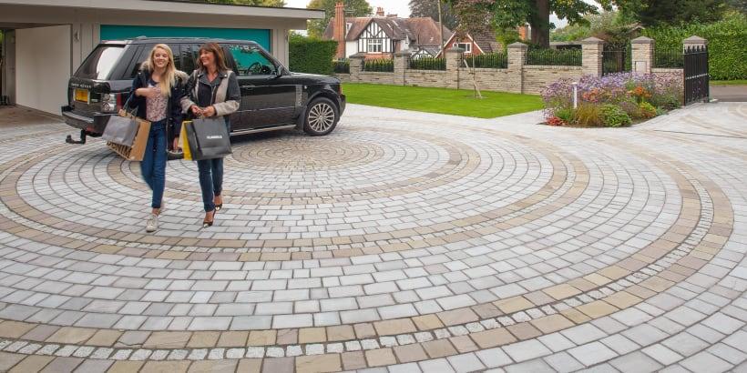 Fairstone Driveway Setts - Silver Birch And Autumn Bronze