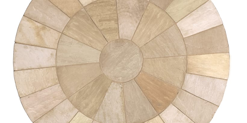 Indian Sandstone Circle - Buff Multi