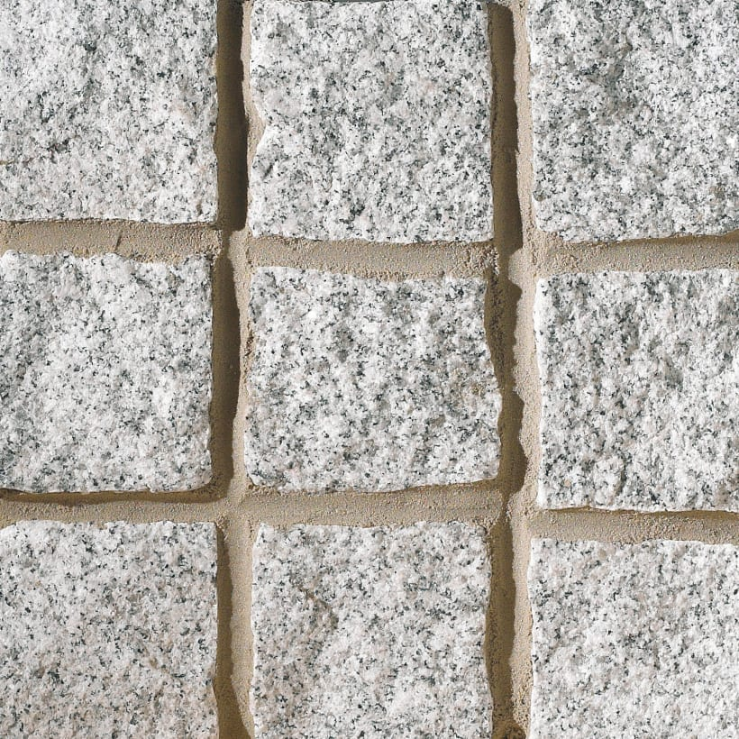 Cropped Granite Setts - Silver Grey