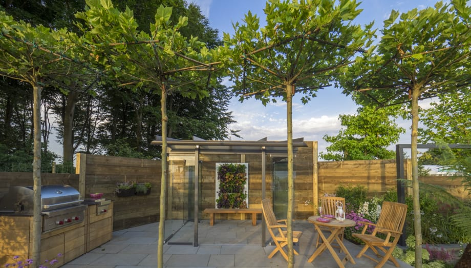 Al fresco dining area by pip probert