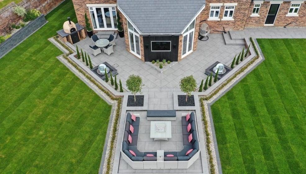 Garden patio ideas for large spaces