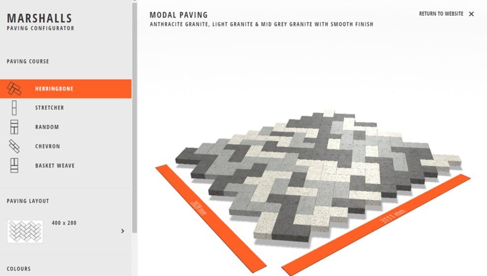 Modal Paving Design Tool