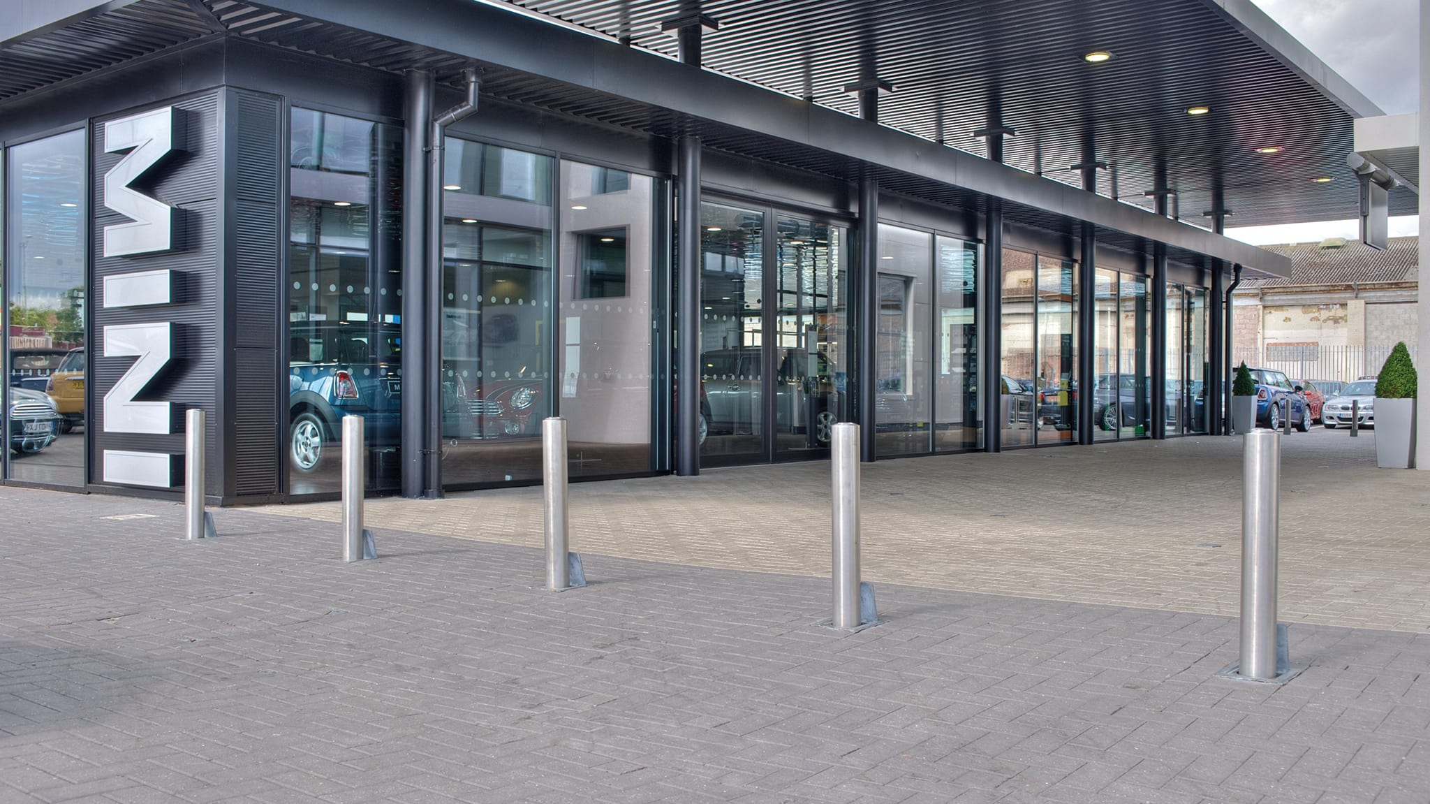 steel bollard as a permemeter protection
