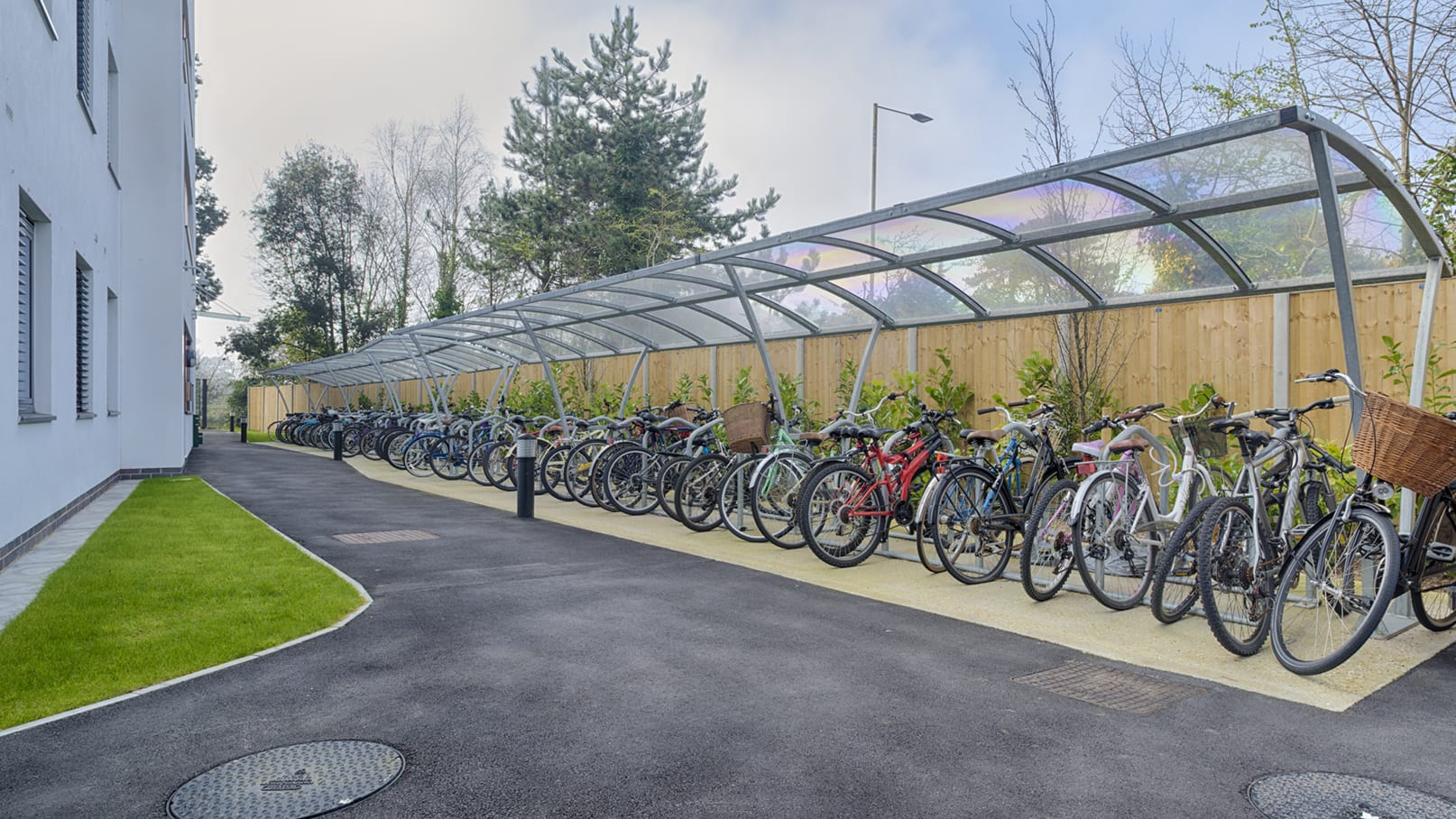 Storage for parking bicycles