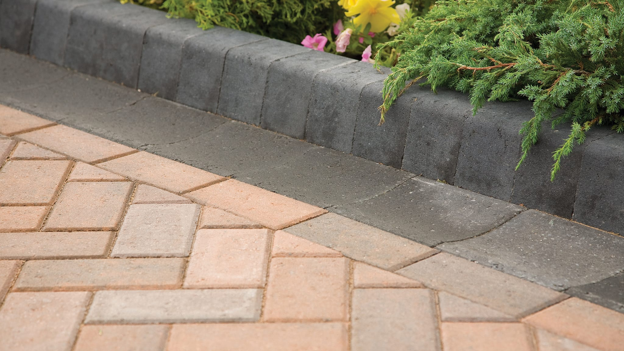 keykerb used as a flowerbed