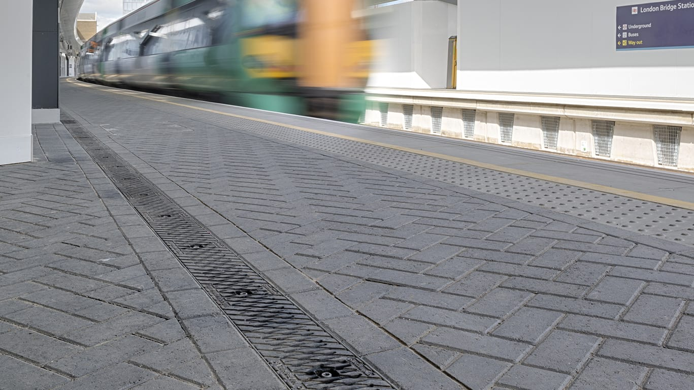 birco lite system insitu railway platform