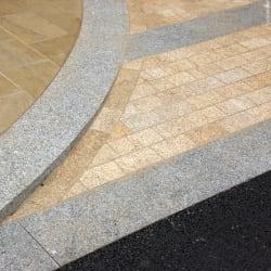 beige granite setts