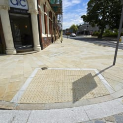 blister tactile flag paving - buff - hempstead