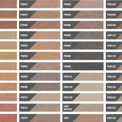 coloured mortar swatch