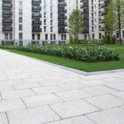 conservation textured paving - heather grey