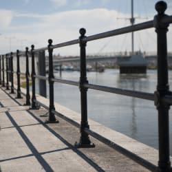 ferrocast berwick protective post and rail
