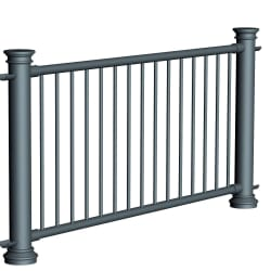 ferrocast chancellor 3 (pgr3) polyurethane pedestrian guard rail