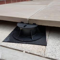 fixed head pedestal installed close up