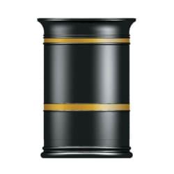 heritage round open top litter bin
