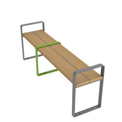 loci three place bench with arms