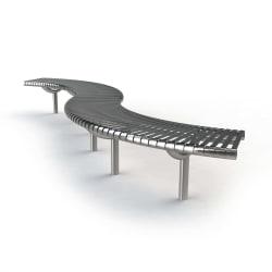 m3 serpentine bench system