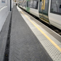 birco lite cast iron and keyblok - charcoal a100 with platform coping unit platform edge