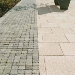 charnwood textured buff and tegula cobbles pennant grey romford
