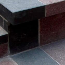 marshalls red granite steps