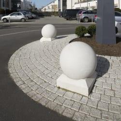 spherical 500 concrete bollard