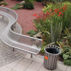 ollerton festival curved seat in steel