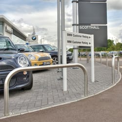 rb60 ss stainless steel hoop barriers bmw mini garage borehamwood