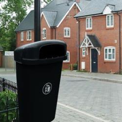 regent plastic litter bin