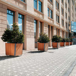rendezvous planters - natural woodstain