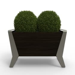 stratic planter - back view - onyx and quartz