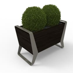 stratic planter - onyx and quartz