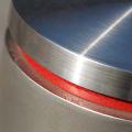 Detailed shot of stainless steel bollard