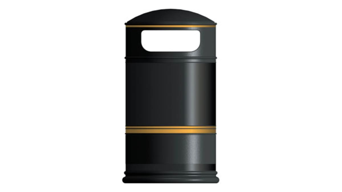 Heritage Round Hooded Litter Bin