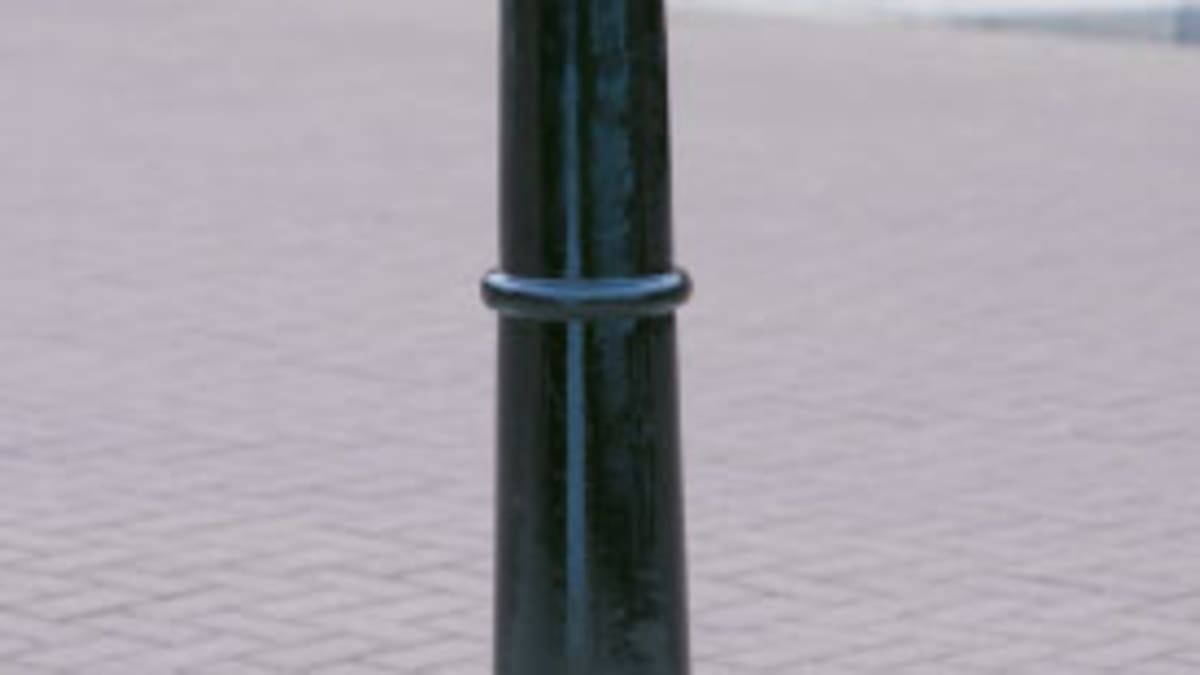 Imperial MSF 108 Cannon Bollard inside a car park.