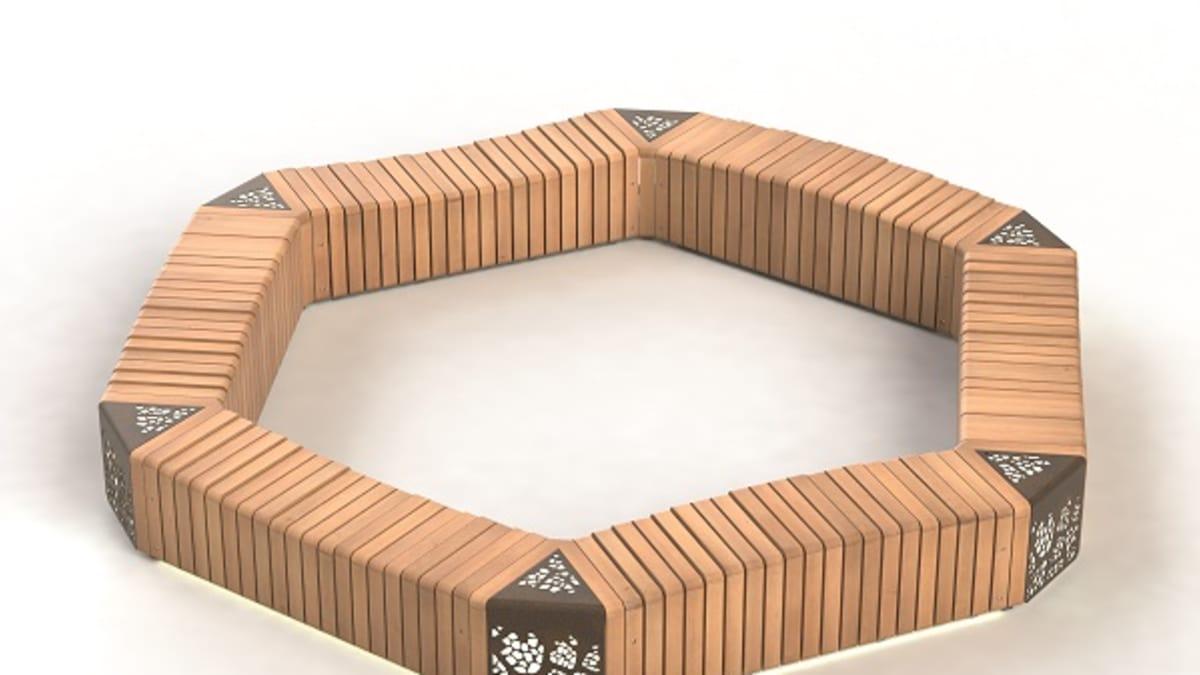 Natural Elements 60° Module bench