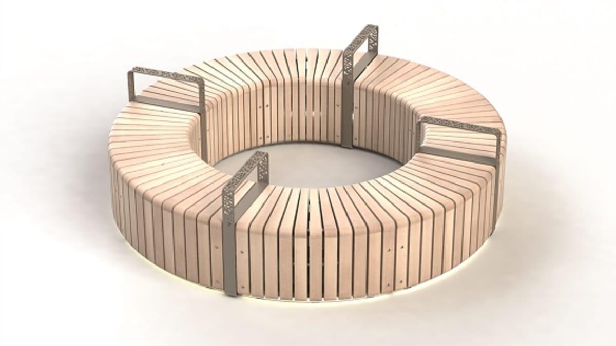 Natural Elements 45° Module bench