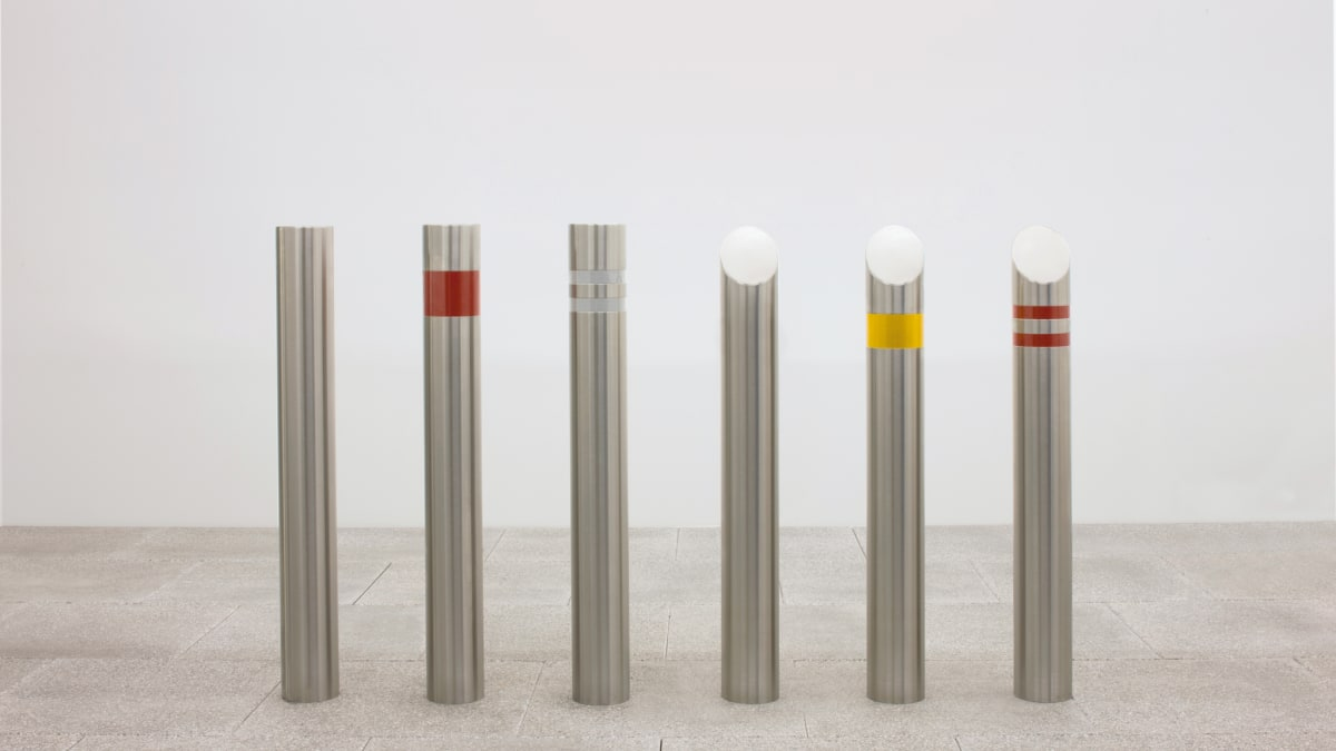 A selection of stainless steel bollards