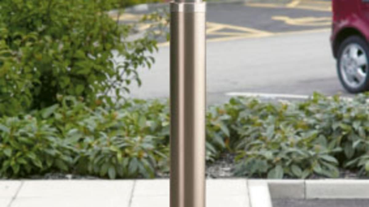 steel bollard in car park