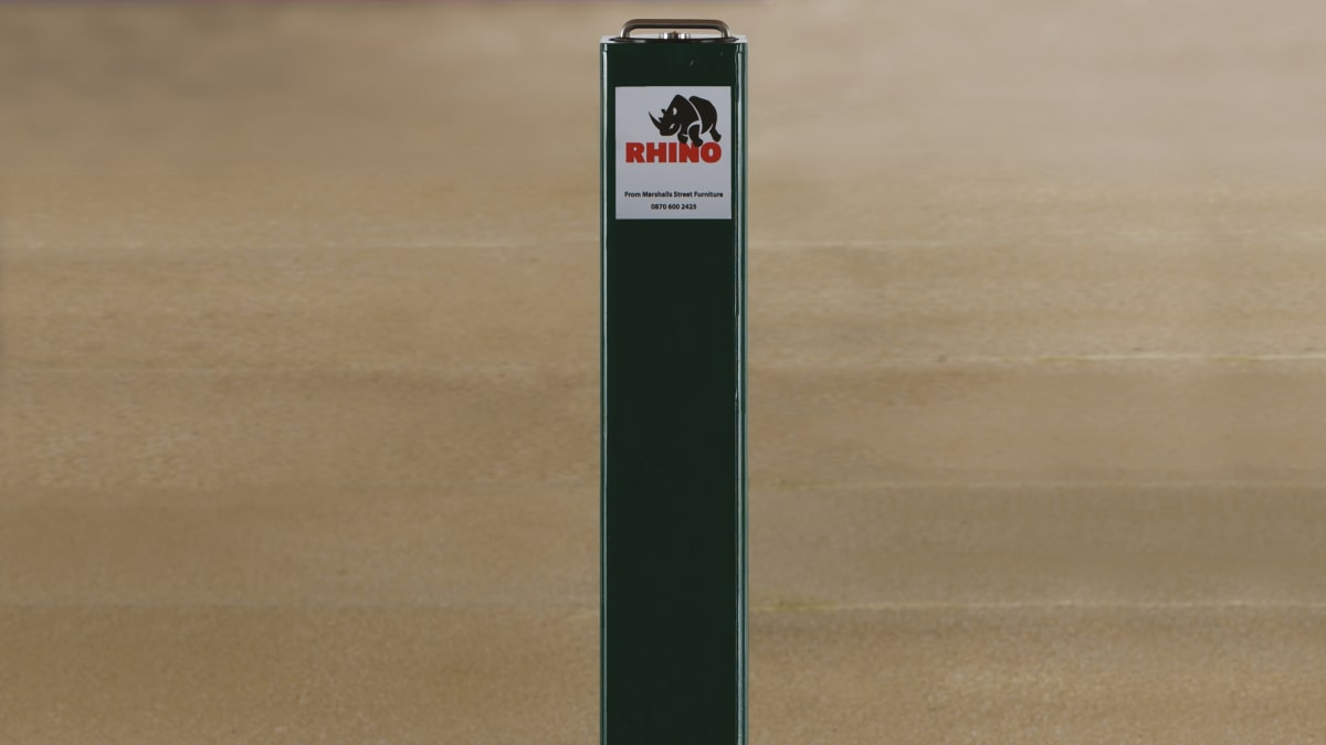 black telescopic bollard
