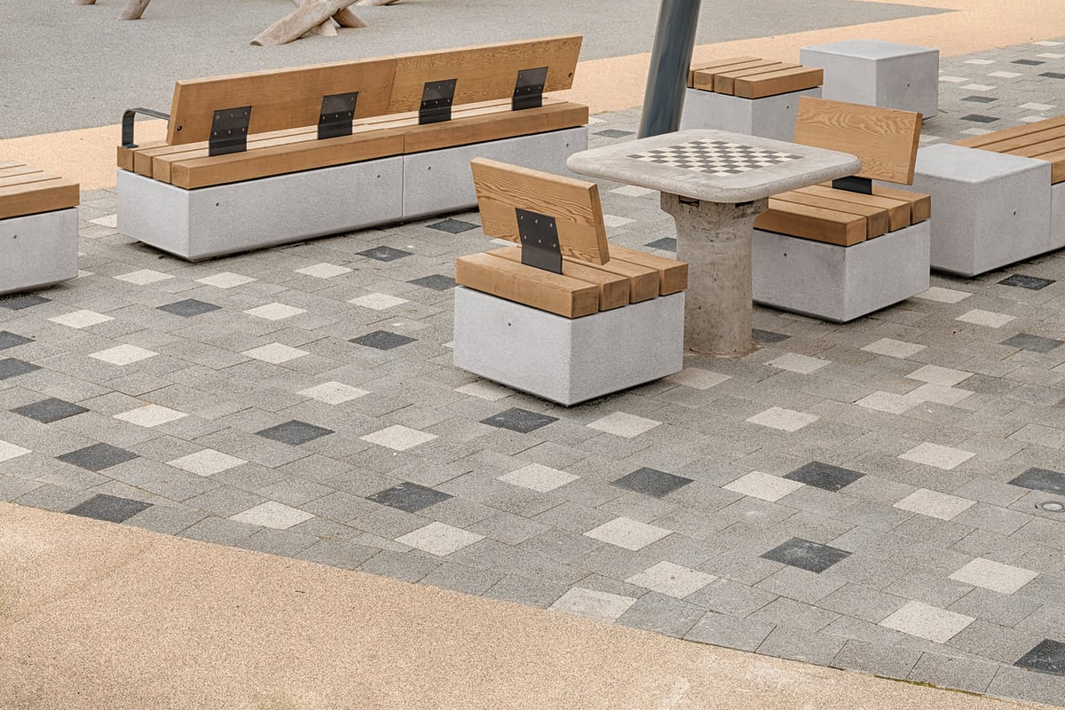 metrolinia modular concrete seating units