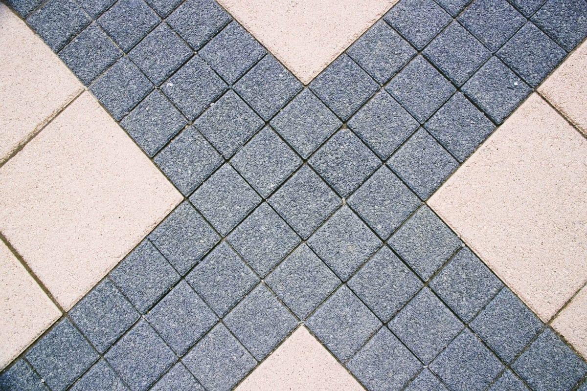 callisto granite and la linia light granite paving