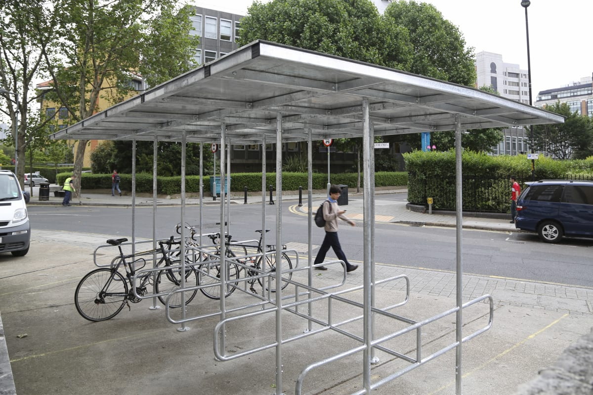 bankside cycle shelter