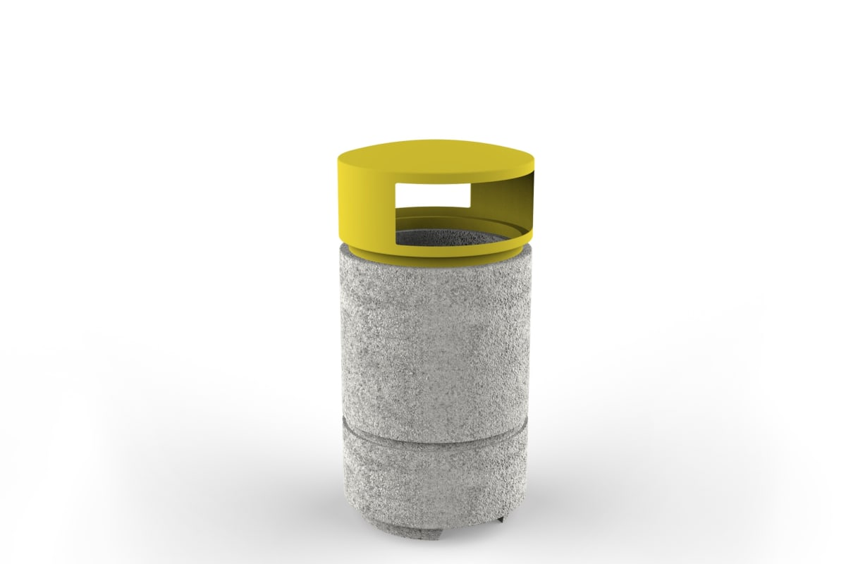 boulevard litter bin with lid