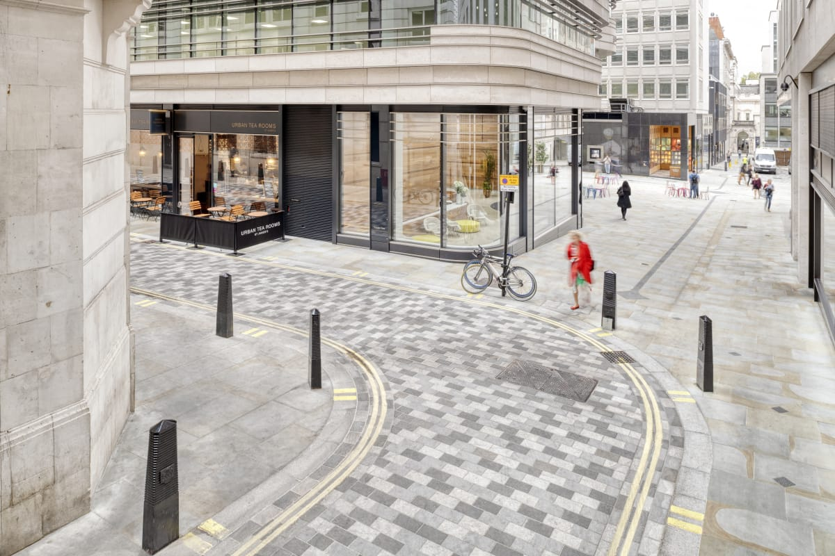 scoutmoor paving and granite mix - st james market london