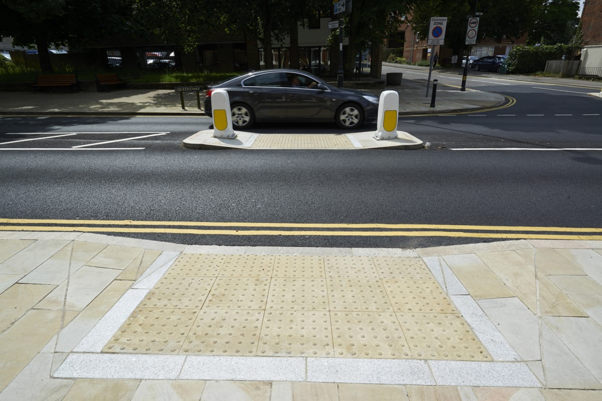 blister tactile flag paving - buff - hemel hempstead