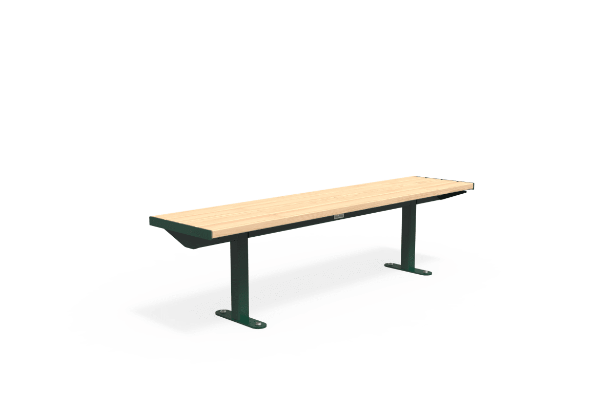 citi element bench - softwood with moss green frame