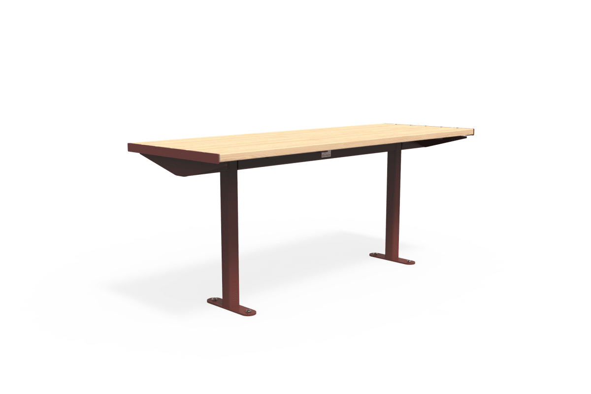 citi element table - softwood with oxide red frame