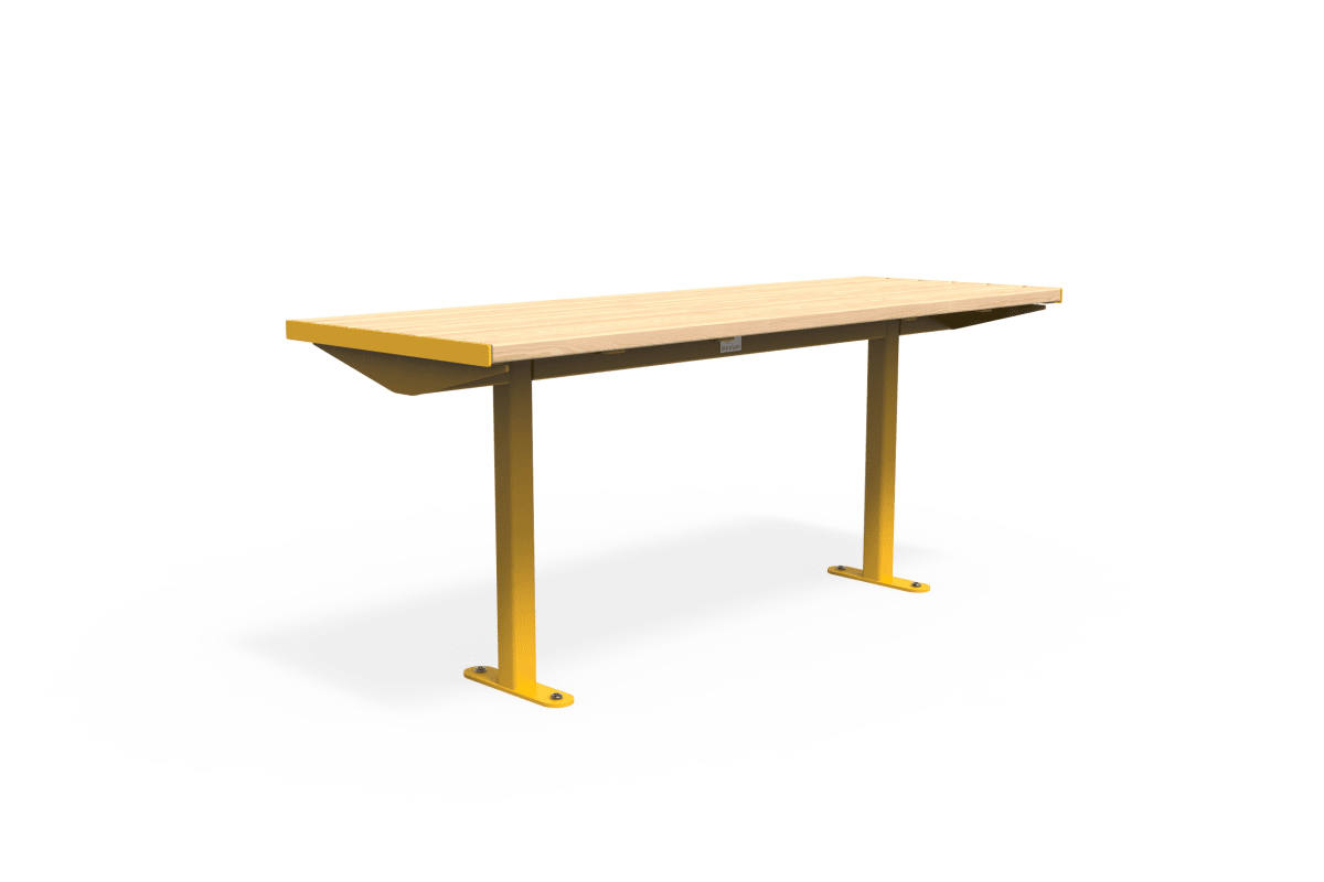 citi element table - softwood with traffic yellow frame
